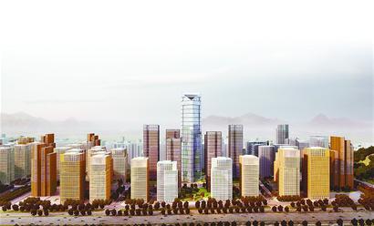 汉峪金融商务中心区城市设计总平面图