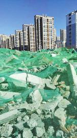 东泺河路拆迁废墟已覆盖