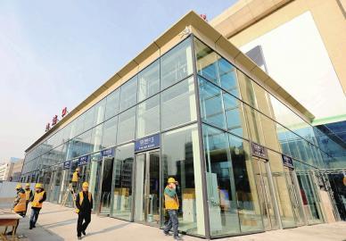 济南火车站新进站口将在春运前启用