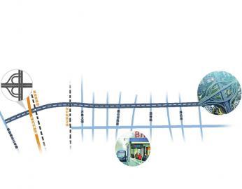 青岛路明天起半封闭施工 工程沿线将同步建设6处BRT站点