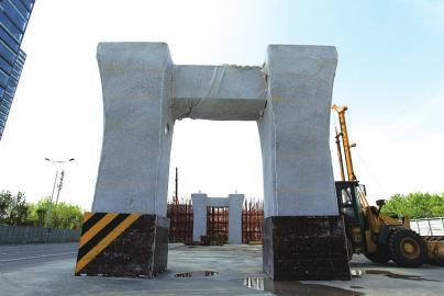 北园高架西延首个墩柱浇筑完成