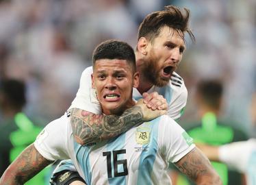 阿根廷队众将爆发 梅西晋级之夜连破纪录