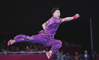 雅加达亚运会首金山东制造 孙培原夺男子长拳金牌