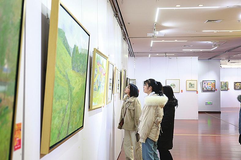 山东艺术学院美院秋季写生作品展开幕 21日将在时光艺术之城进行拍卖