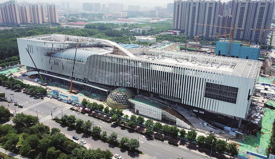 山东省科技馆新馆建设进入尾声 预计将于今年6月底竣工