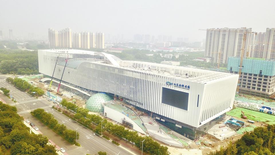 山东省科技馆新馆施工接近尾声