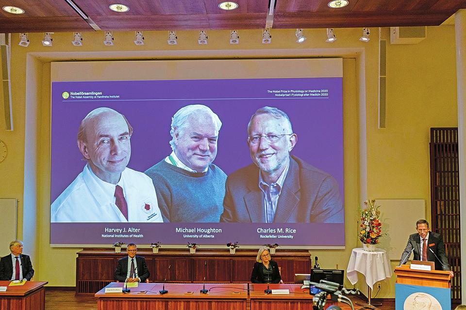 在发现丙型肝炎病毒方面作出贡献 3名科学家分享诺贝尔生理学或医学奖