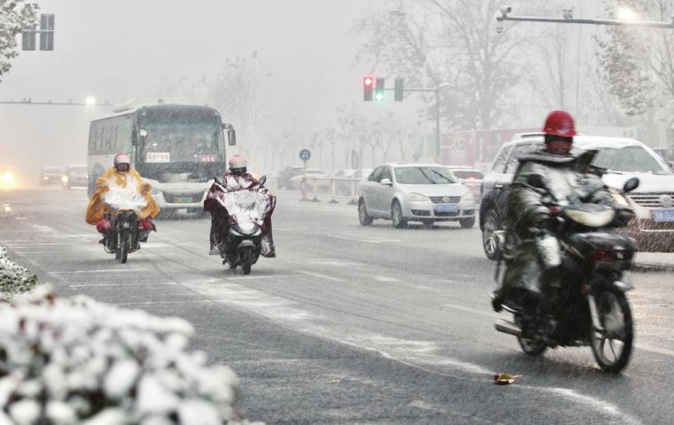 """今冬首场""""像样""""的雪到了"""