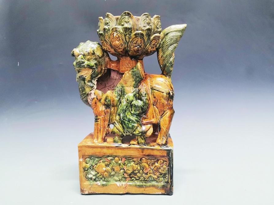 裴家营东南墓地考古发掘成果丰硕 宋元墓葬出土黄绿釉狮坐莲花灯为罕见珍品